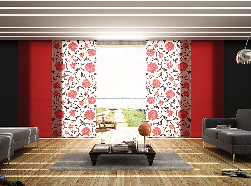 panneau japonais parois japonaises panneaux coulissants storipro. Black Bedroom Furniture Sets. Home Design Ideas